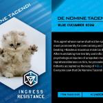 Ingress Character Card De Nomine Tacendi 2016
